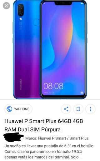 Huawei P smart plus 64g