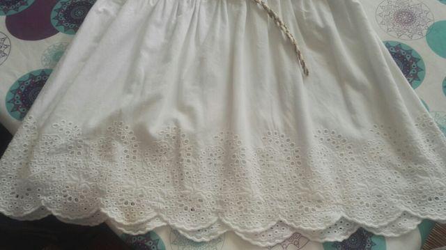 Vestido blanco niña Brotes