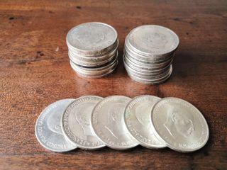 Monedas 100 pesetas plata Franco