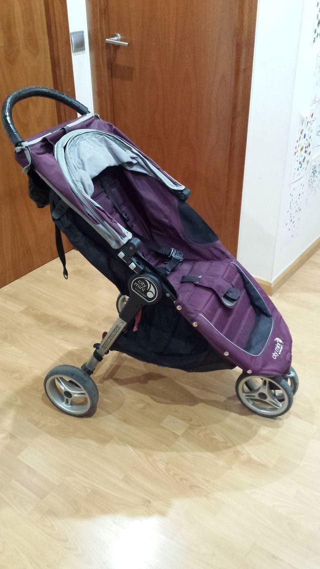 Baby Jogger City Mini 3 Coche Paseo Morado Capazo De Segunda Mano