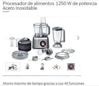 Robot de cocina BOSCH, batidora