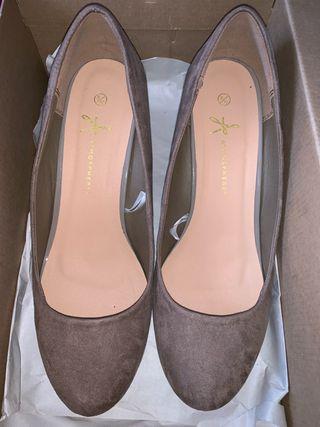 Zapatos de ante T41 color marrón clarito