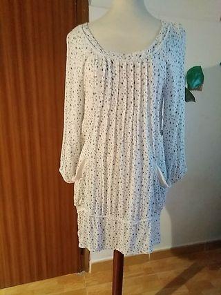 vestido blanco con estampado