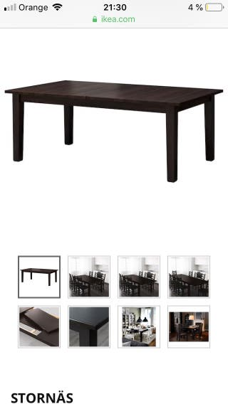 Por Stornäs € De En Mano Mesa Segunda Grande Ikea 100 Extensible 45ARLq3j