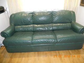 2 sofas de piel al precio de 1