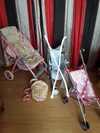 BABY BORN SILLA CARRITO MUÑECOS accesorios
