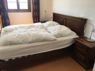Complete bedroom massive wood 160 x 200