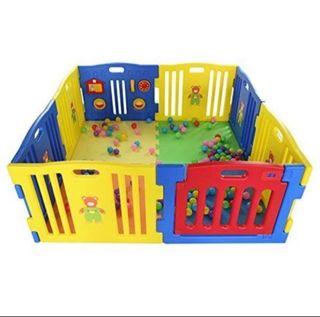 Parque infantil ibaby play twin Xxl 8 piezas