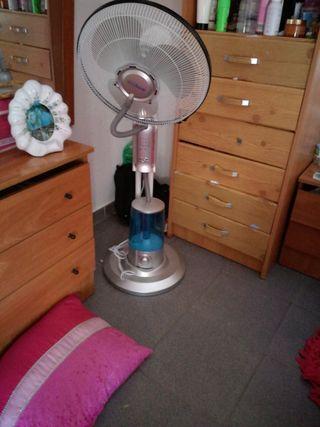 ventilador con depósito de hielo