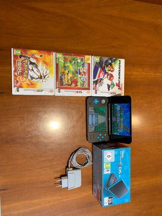 Nintendo 2DS XL + 4 juegos