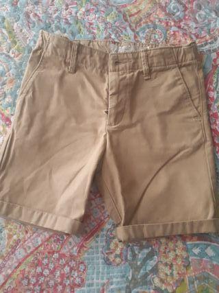 Pantalon corto beige 5-6 años