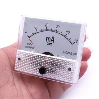 Amperímetro analógico medida corriente eléctrica D