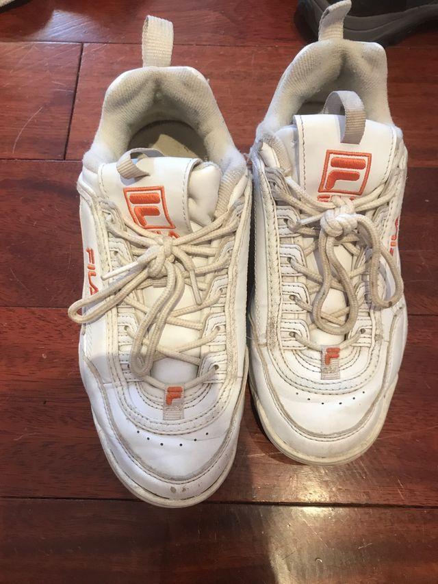 Zapatillas Fila Blancas De Segunda Mano Por 25  U20ac En