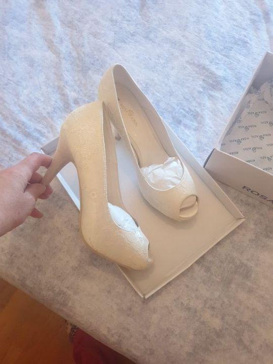 Zapatos novia(Rosa Azul),número 39