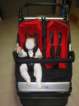 Carro gemelar Mountain Buggy + PACK accesorios