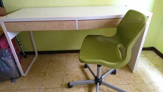 mesa escritorio juvenil + silla (precio negociable