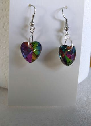 Various hand made pierced earrings