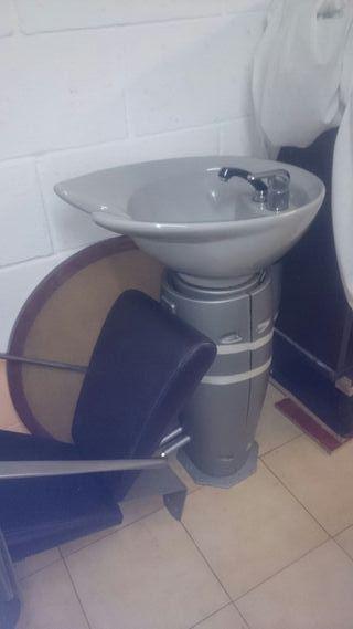 lavabo peluqueria profesional y silla