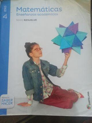 libro de matemáticas 4ESO