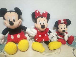 lote peluches minie y mickey mouse marca disney