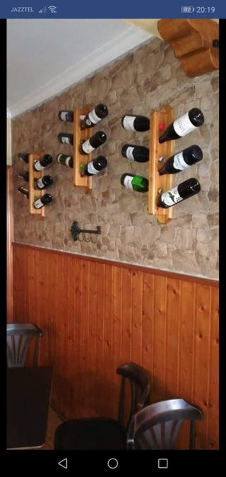 botelleros de madera hecho a mano