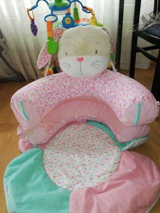 cama sillon y alfombra hinchable para bebe