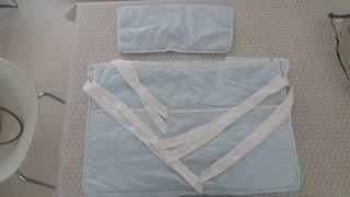 Conjunto vestidura minicuna, sábanas, funda edredr