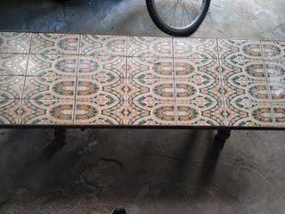 mesa azulejos