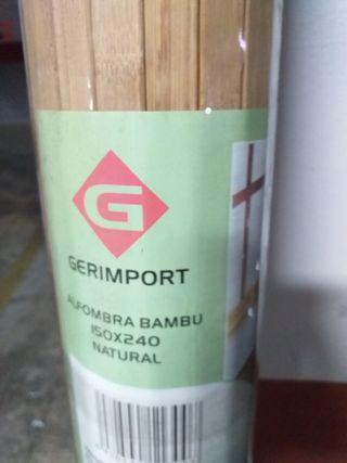 3 Alfombras de bambú nuevas en envoltorio
