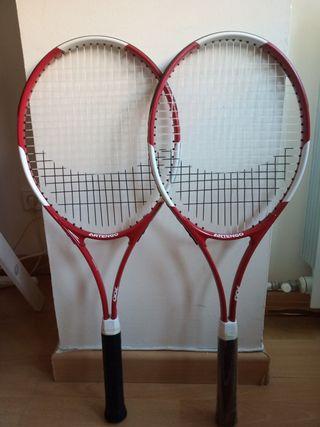 Raquetas de tenis adulto + pelotas