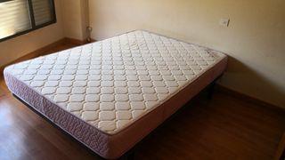 vendo cama 135x190 cm, somier lamas y colchon