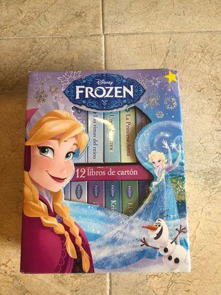 12 mini libros de cartón de Frozen