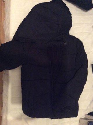 Abrigo negro niña forro polar