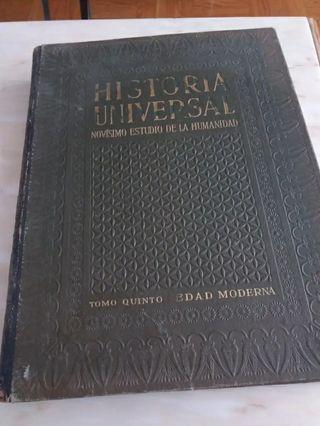 Libro antiguo Historia Universal