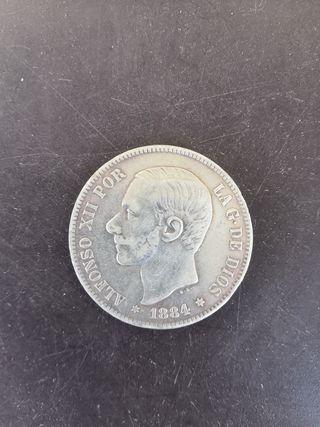 moneda 1884 alfonso xii