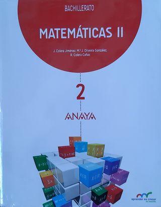MATEMÁTICAS 2 BACHILLERATO ANAYA NUEVO