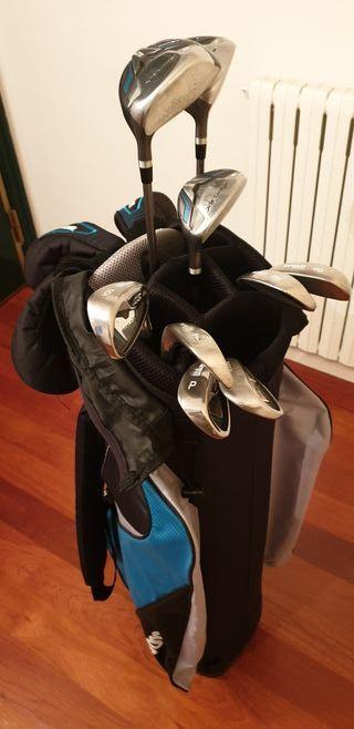 Palos de golf con bolsa de cadere/señora