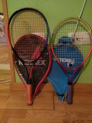 Raquetas de tenis Junior (con funda)