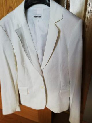 chaqueta, americana blanca