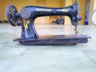 Máquina de coser de zapatero Singer.