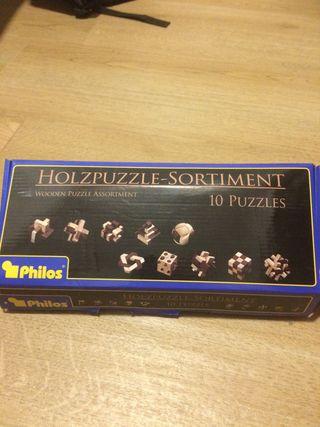 Juego de puzzles de madera