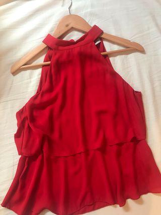 Blusa Zara roja de segunda mano en la provincia de Zaragoza