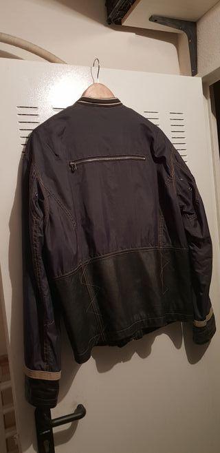 chaqueta cuero impermiable