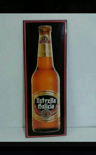 Cartel de chapa Cerveza Estrella de Galicia