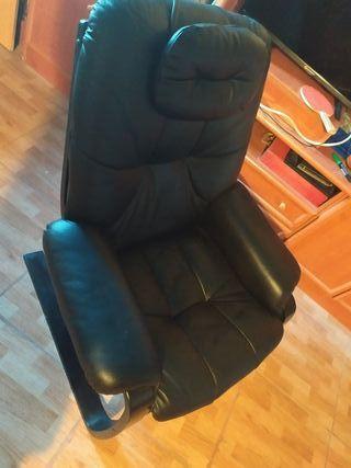 Sillon estilo POANG de Piel cuero nuevo 2 sillones