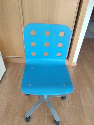 silla juvenil azules ikea de escritorio