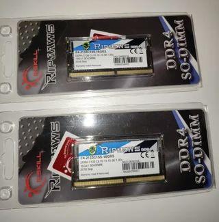 32gb de RAM DDR4 SODIMM GSKILL RIPJAWS PRECINTADAS