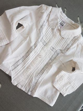 Camisa blanca bebé niño 9 12 meses de segunda mano por 4