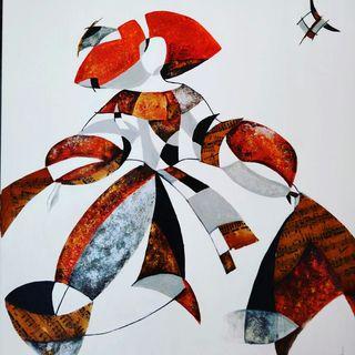 Cuadro abstracto moderno.Menina.