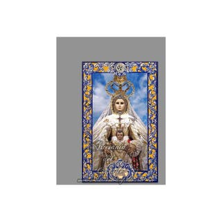 Azulejo con lema de la Virgen del Rosario -P.Cádiz